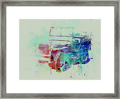 Jeep Willis Framed Print by Naxart Studio