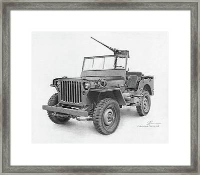 Jeep Willys Framed Print by Christopher Bracken