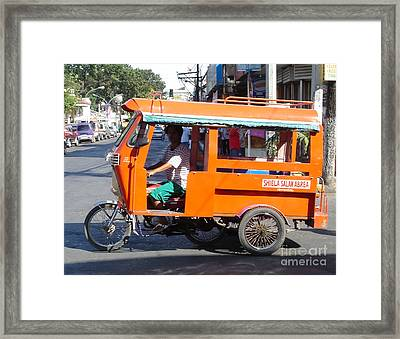 Jeepney 01 Framed Print by Mike Holloway