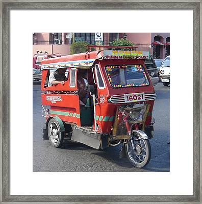Jeepney 05 Framed Print by Mike Holloway