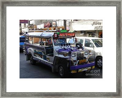 Jeepney 06 Framed Print by Mike Holloway