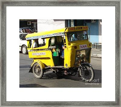 Jeepney 07 Framed Print by Mike Holloway