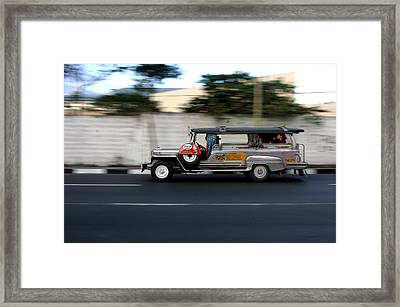 Jeepney 4 Framed Print by Jez C Self