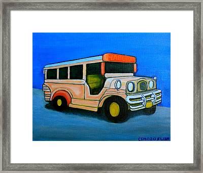 Jeepney Framed Print by Cyril Maza
