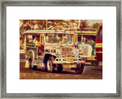 Jeepney Manila Framed Print