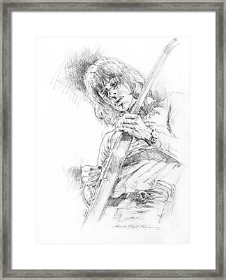 Jeff Beck - Truth Framed Print by David Lloyd Glover