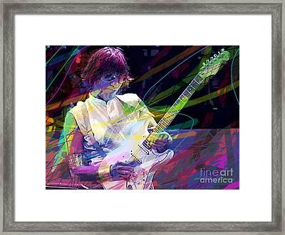 Jeff Beck Bolero Framed Print by David Lloyd Glover