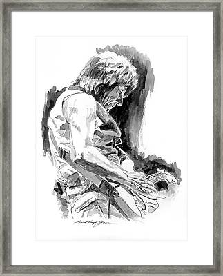 Jeff Beck In Concert Framed Print by David Lloyd Glover