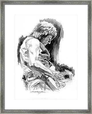 Jeff Beck In Concert Framed Print by David Lloyd Glover