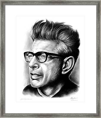 Jeff Goldblum Framed Print by Greg Joens