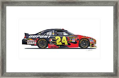 Jeff Gordon Nascar Image Framed Print