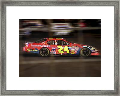 Jeff Gordons Cup Car  Framed Print by Kenneth Krolikowski