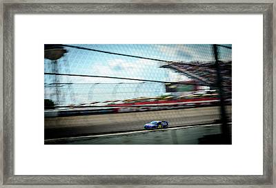 Jeff Gordon's Last Race At Mis Framed Print