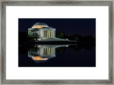 The Jefferson At Night Framed Print