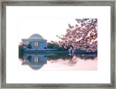 Jefferson At Sunrise Framed Print