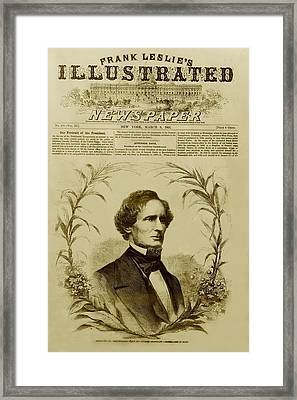 Jefferson Davis 1808-1889, First Framed Print by Everett
