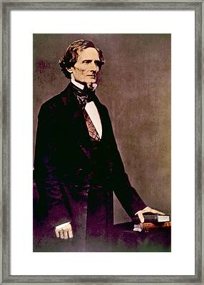 Jefferson Davis 1808-1889, President Framed Print by Everett