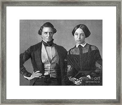Jefferson Davis And Varina Howell Davis Framed Print