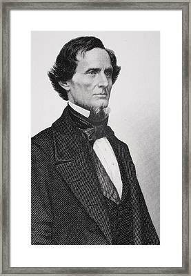 Jefferson Davis Framed Print by Matthew Brady
