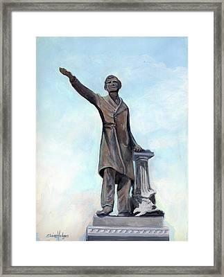 Jefferson Davis Monument Framed Print by Elaine Hodges
