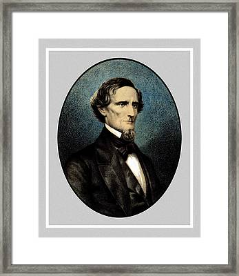 Jefferson Davis Framed Print by War Is Hell Store
