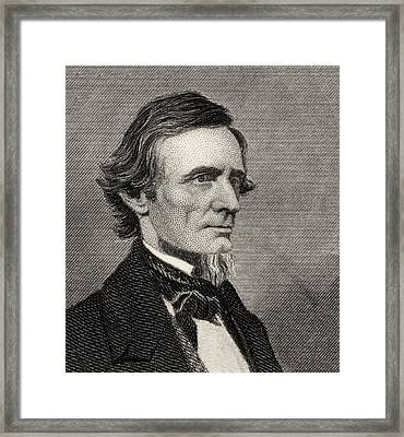 Jefferson Davis,1808-1889. First And Framed Print by Vintage Design Pics