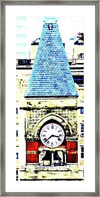 Jefferson Market Clock Day Framed Print by Ken Lerner