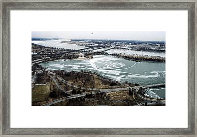 Jefferson Memorial And South Framed Print