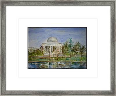 Jefferson Memorial Framed Print by Angela Puglisi