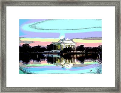 Jefferson Memorial Framed Print by Charles Shoup