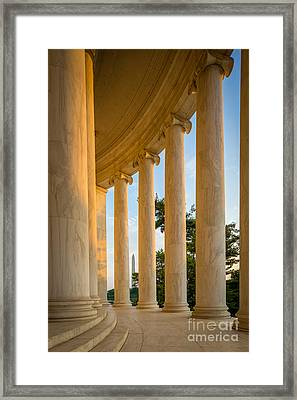 Jefferson Memorial Columns Framed Print by Inge Johnsson