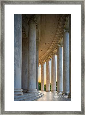 Jefferson Memorial Dawn Framed Print
