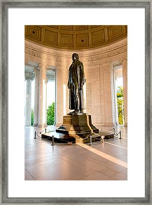 Jefferson Memorial Framed Print by Greg Fortier