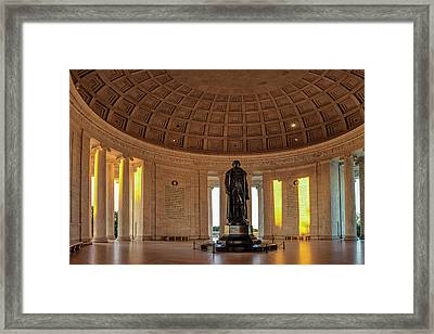 Jefferson Memorial In Morning Light Framed Print by Andrew Soundarajan