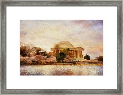 Jefferson Memorial Just Past Dawn Framed Print