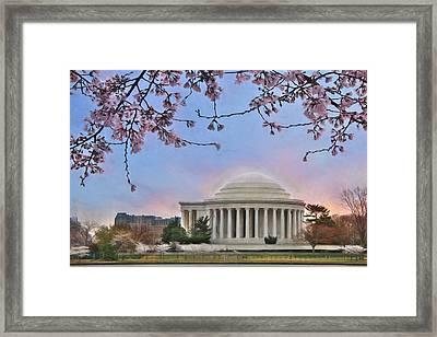 Jefferson Memorial Framed Print by Lori Deiter