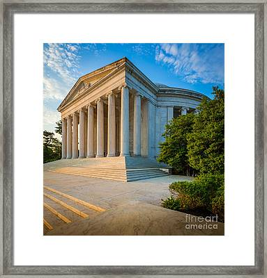 Jefferson Memorial Panorama Framed Print by Inge Johnsson