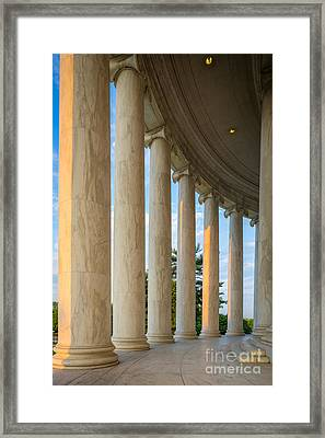 Jefferson Memorial Pillars Framed Print by Inge Johnsson