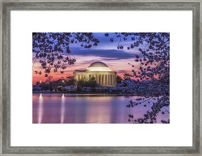 Jefferson Memorial Pre-dawn Framed Print