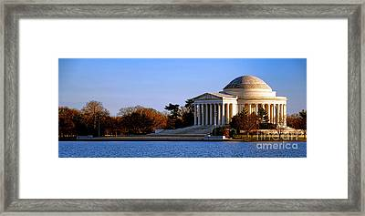 Jefferson Memorial Sunset Framed Print by Olivier Le Queinec