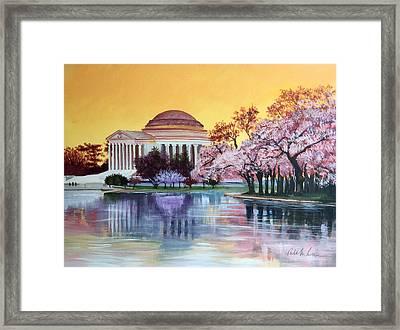 Jefferson Monument Framed Print