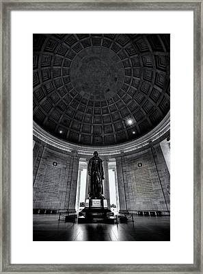 Jefferson Statue In The Memorial Framed Print by Andrew Soundarajan