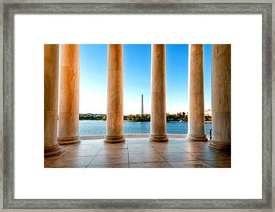 Jefferson To Washington Framed Print by Greg Fortier