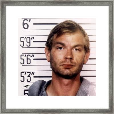 Jeffrey Dahmer Mug Shot 1991 Square  Framed Print