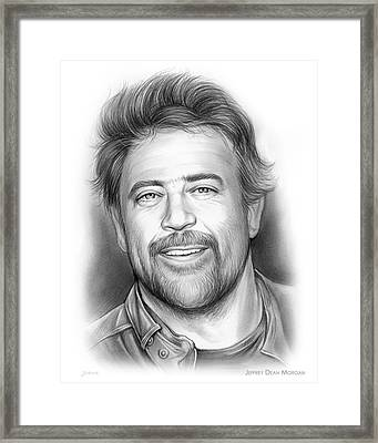 Jeffrey Dean Morgan Framed Print