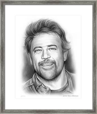 Jeffrey Dean Morgan Framed Print by Greg Joens