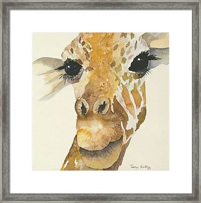 Jeffrey Giraffe Framed Print