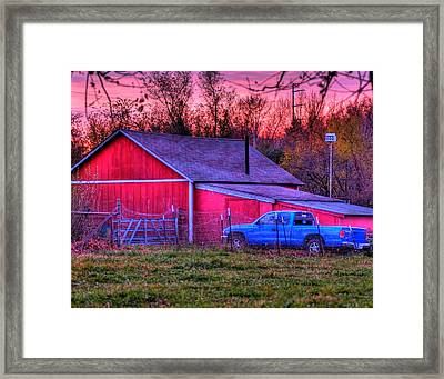 Jeff's Barn Framed Print by Don Wolf