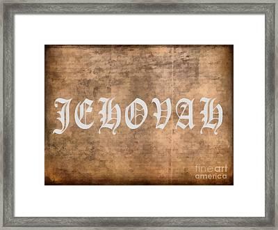 Jehovah Framed Print by Edward Fielding