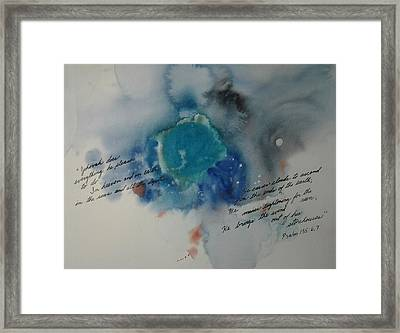 Jehovah's Creation 1 Framed Print